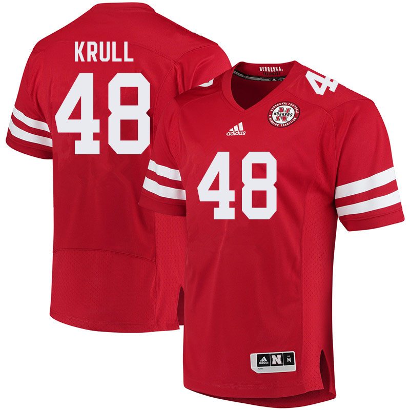 Men #48 Bryson Krull Nebraska Cornhuskers College Football Jerseys Sale-Red