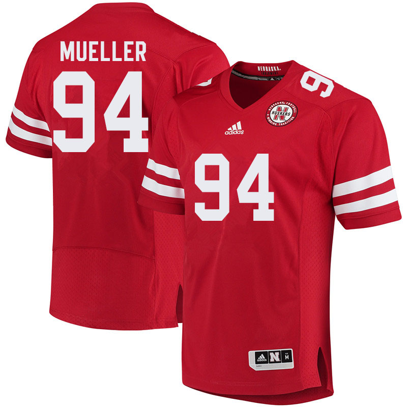 Men #94 Cade Mueller Nebraska Cornhuskers College Football Jerseys Sale-Red