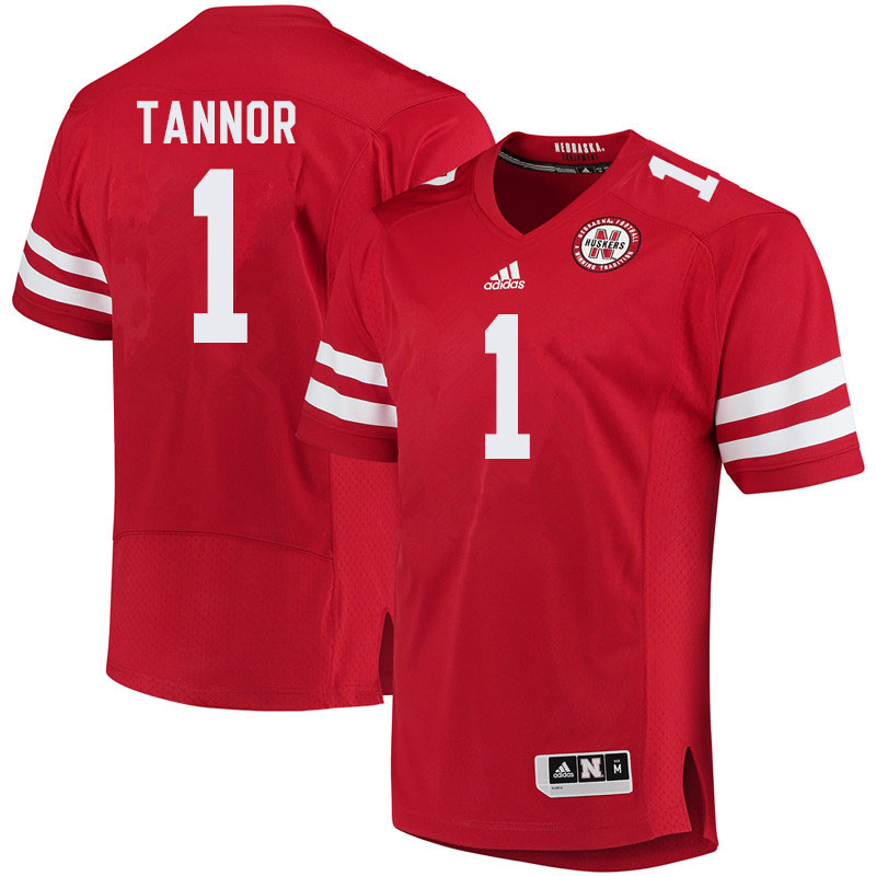 Men #1 Caleb Tannor Nebraska Cornhuskers College Football Jerseys Sale-Red