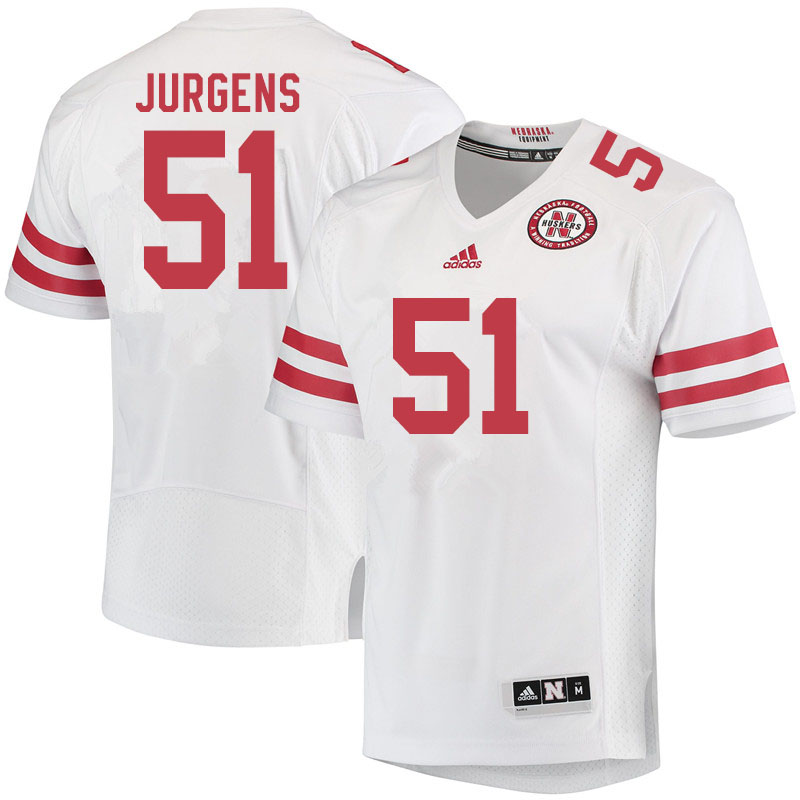 Men #51 Cameron Jurgens Nebraska Cornhuskers College Football Jerseys Sale-White