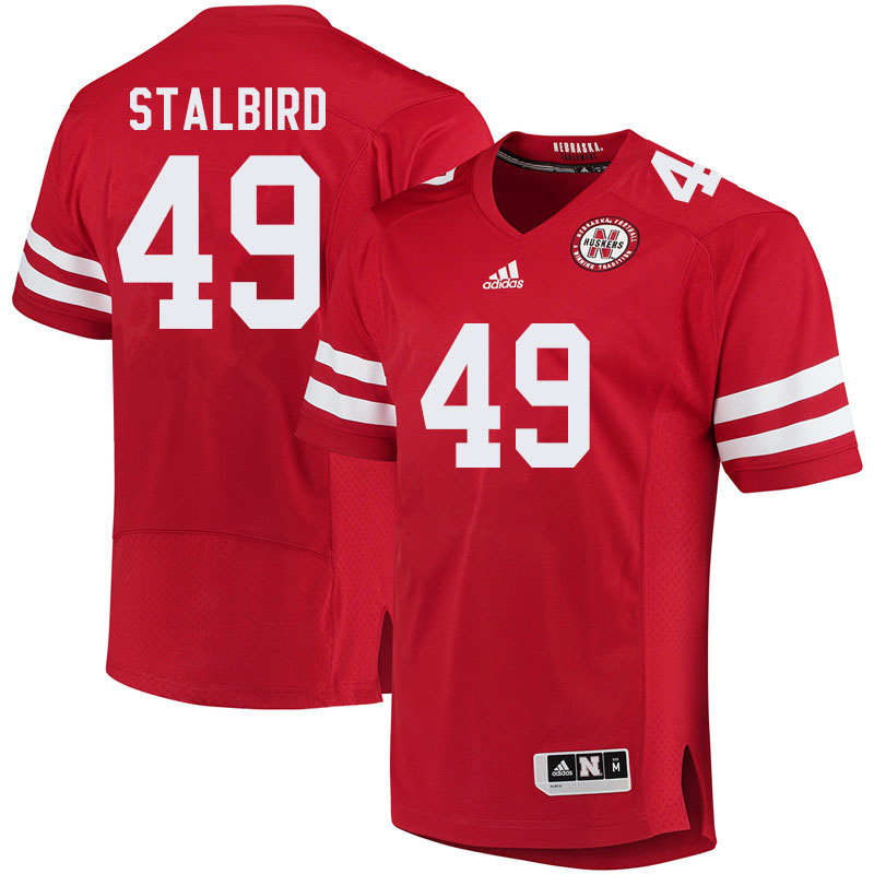 Men #49 Isaiah Stalbird Nebraska Cornhuskers College Football Jerseys Sale-Red