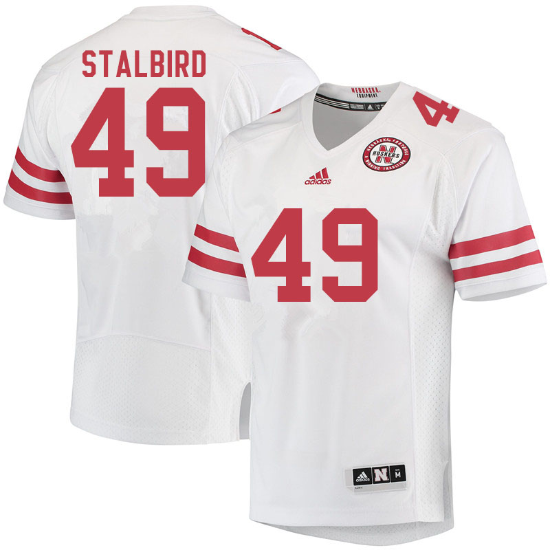 Men #49 Isaiah Stalbird Nebraska Cornhuskers College Football Jerseys Sale-White