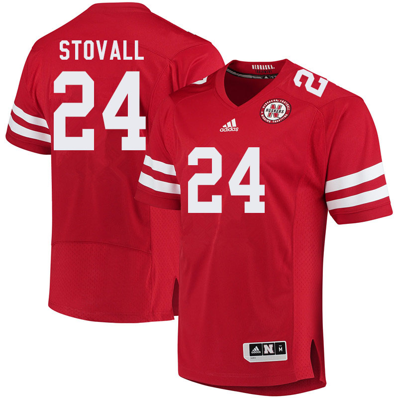 Men #24 Jeramiah Stovall Nebraska Cornhuskers College Football Jerseys Sale-Red