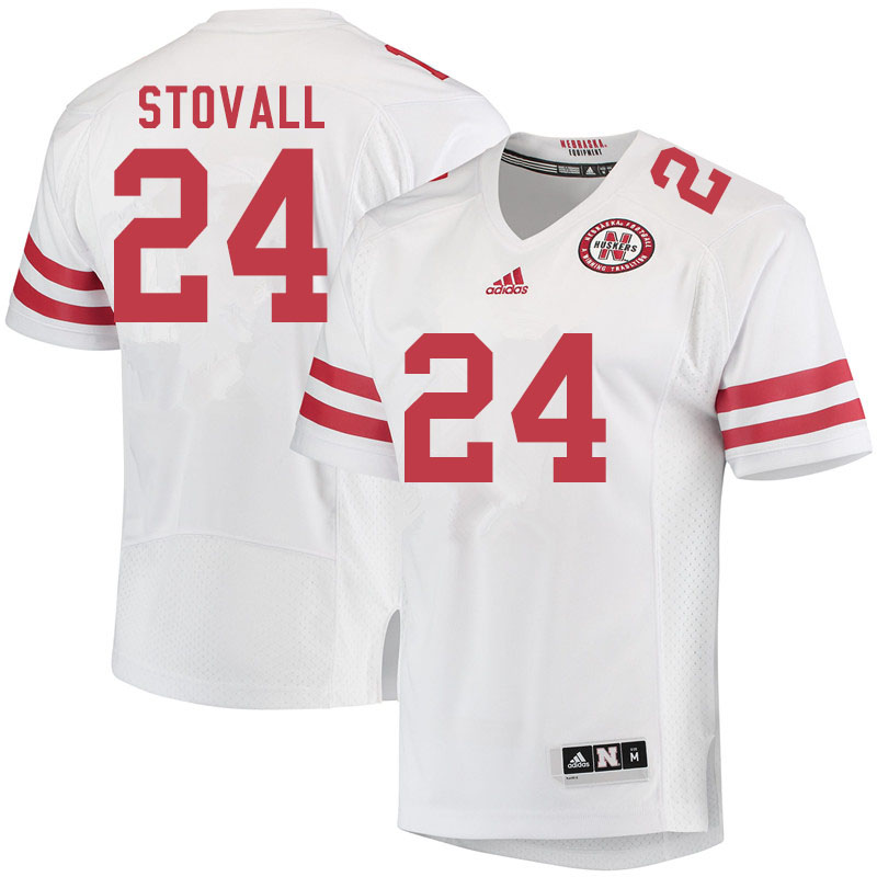 Men #24 Jeramiah Stovall Nebraska Cornhuskers College Football Jerseys Sale-White