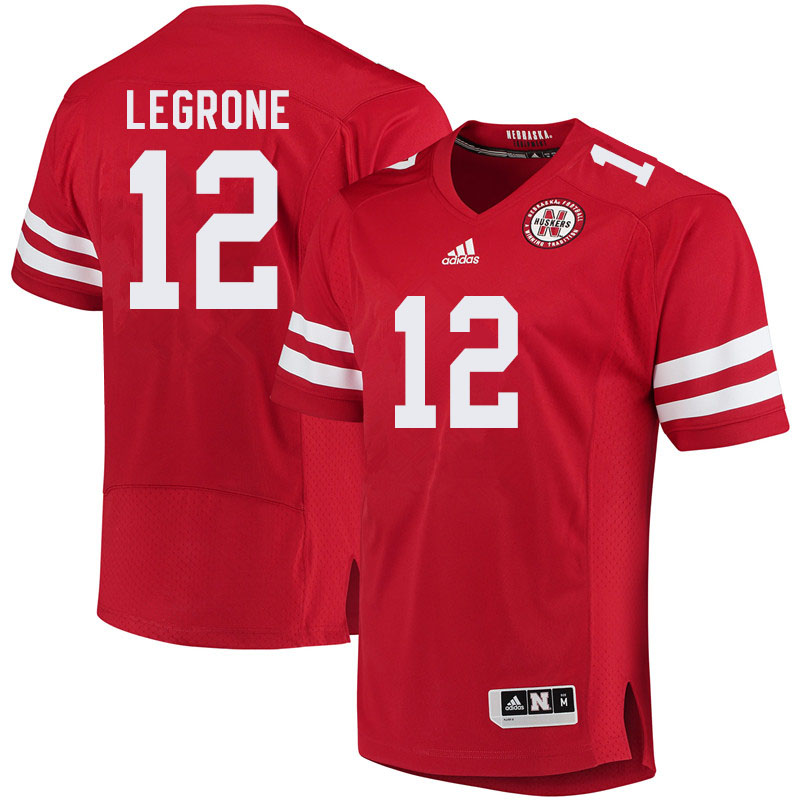 Men #12 Katerian LeGrone Nebraska Cornhuskers College Football Jerseys Sale-Red