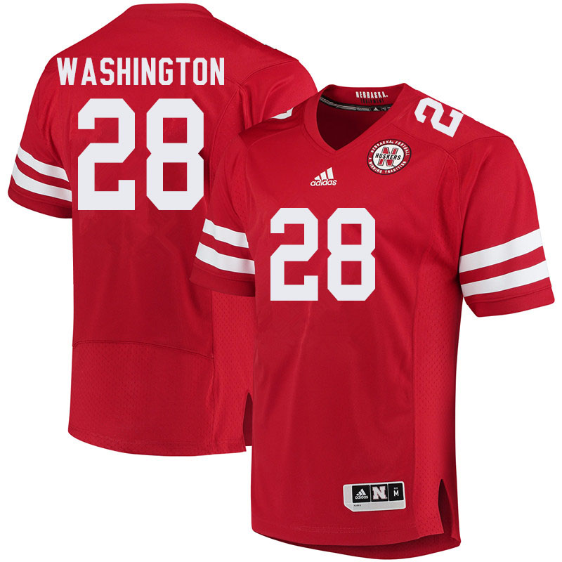 Men #28 Maurice Washington Nebraska Cornhuskers College Football Jerseys Sale-Red