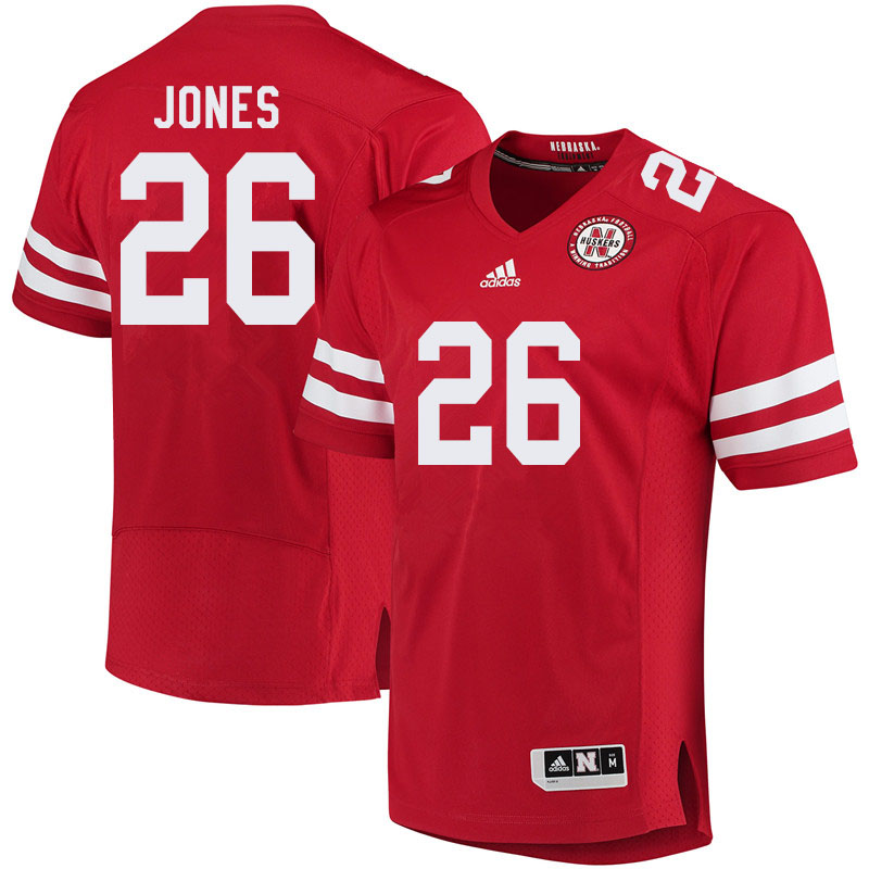 Men #26 Miles Jones Nebraska Cornhuskers College Football Jerseys Sale-Red