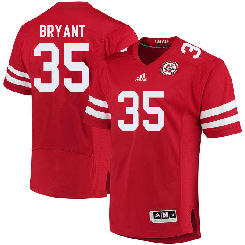 Men #35 Moses Bryant Nebraska Cornhuskers College Football Jerseys Sale-Red
