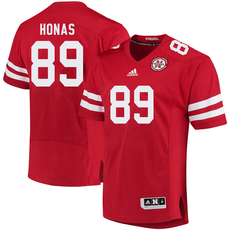 Men #89 Todd Honas Nebraska Cornhuskers College Football Jerseys Sale-Red