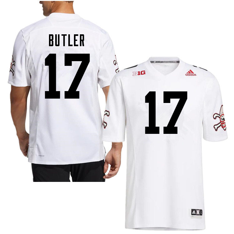 Men #17 Jimari Butler Nebraska Cornhuskers College Football Jerseys Sale-White Strategy