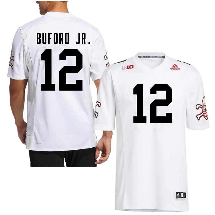 Men #12 Marques Buford Jr. Nebraska Cornhuskers College Football Jerseys Sale-White Strategy