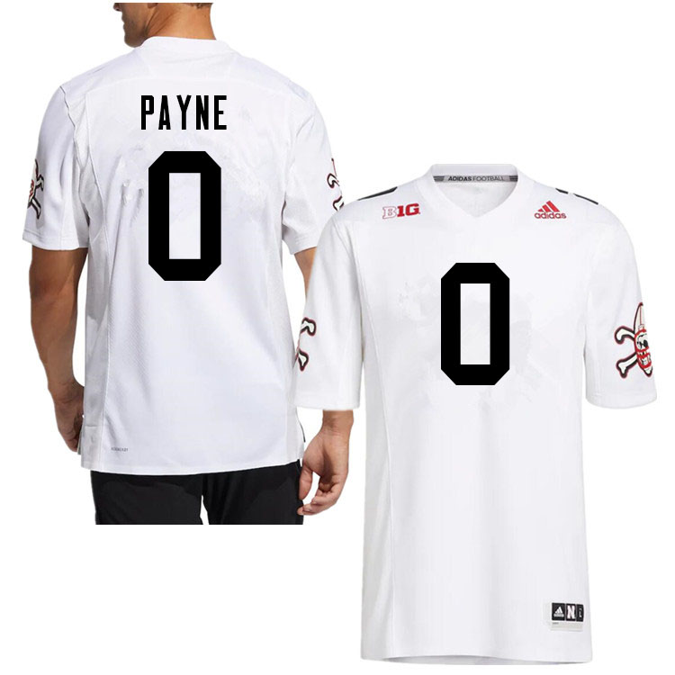 Men #0 Pheldarius Payne Nebraska Cornhuskers College Football Jerseys Sale-White Strategy