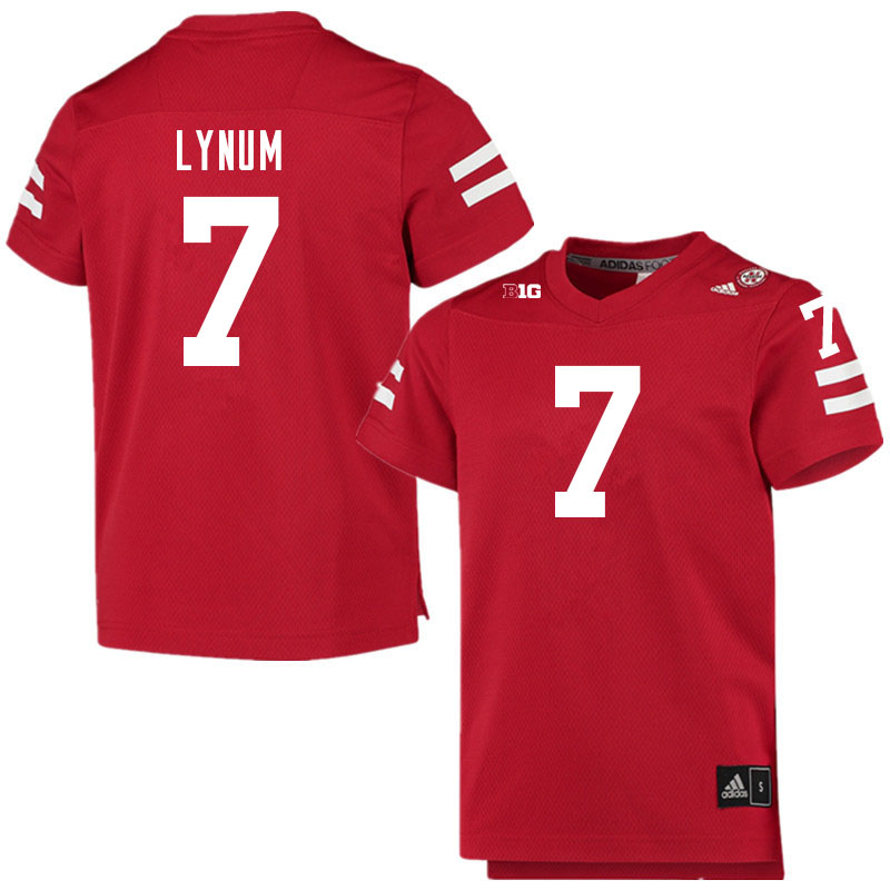 Men #7 Tamon Lynum Nebraska Cornhuskers College Football Jerseys Sale-Scarlet