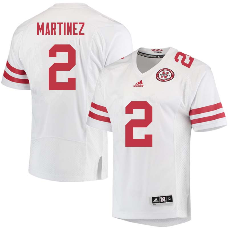Men #2 Adrian Martinez Nebraska Cornhuskers College Football Jerseys Sale-White