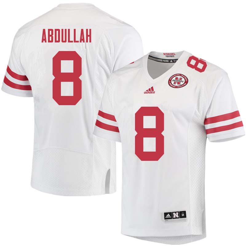 Men #8 Ameer Abdullah Nebraska Cornhuskers College Football Jerseys Sale-White