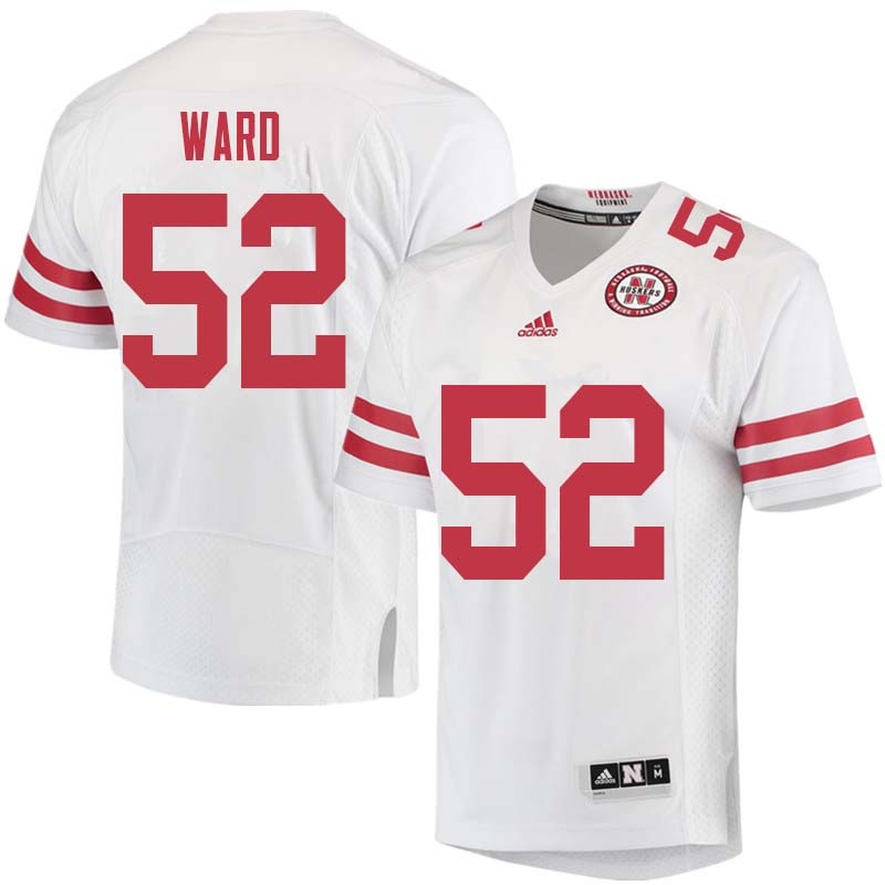 Men #52 Andrew Ward Nebraska Cornhuskers College Football Jerseys Sale-White