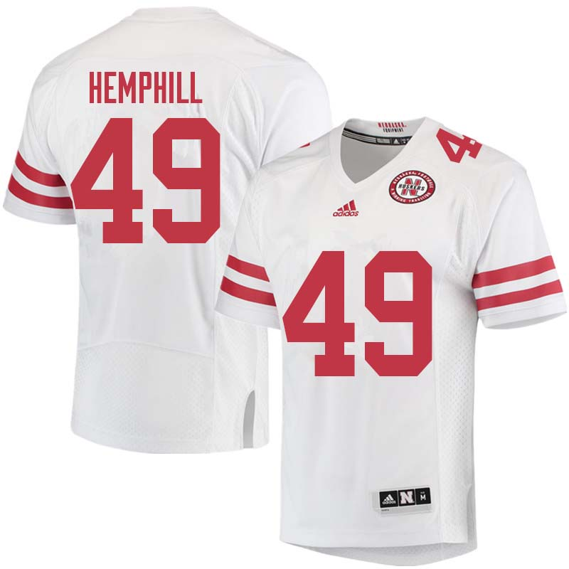 Men #49 Austin Hemphill Nebraska Cornhuskers College Football Jerseys Sale-White