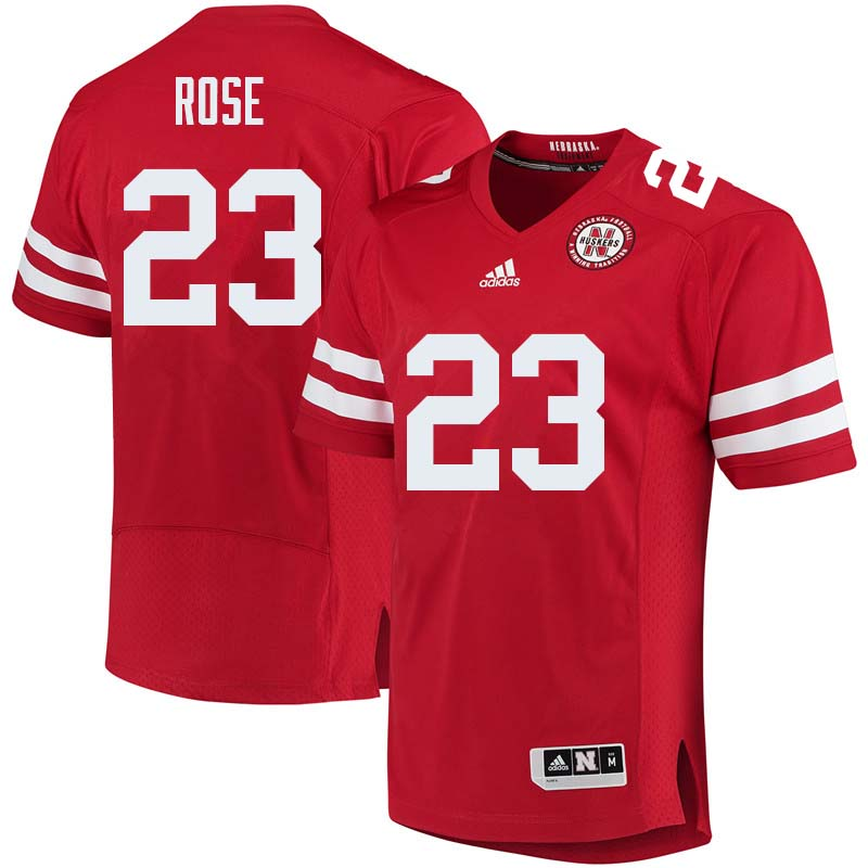 Men #23 Austin Rose Nebraska Cornhuskers College Football Jerseys Sale-Red