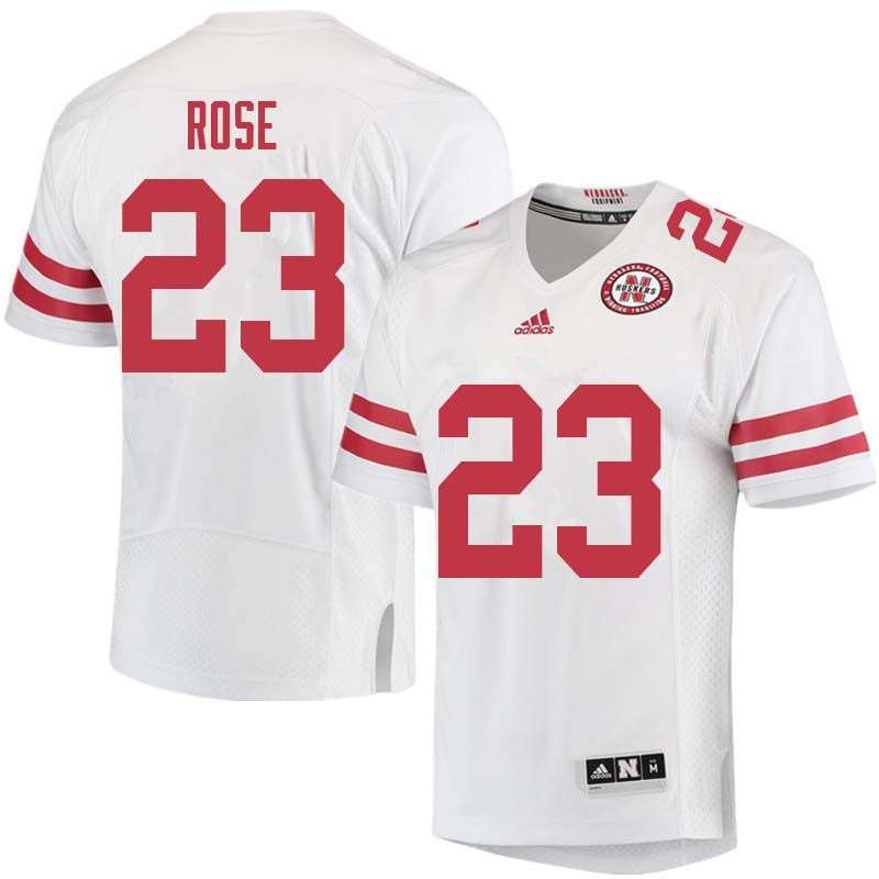 Men #23 Austin Rose Nebraska Cornhuskers College Football Jerseys Sale-White