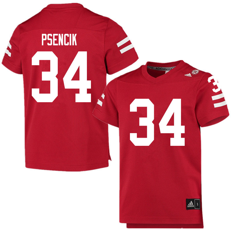 Men #34 Beau Psencik Nebraska Cornhuskers College Football Jerseys Sale-Scarlet