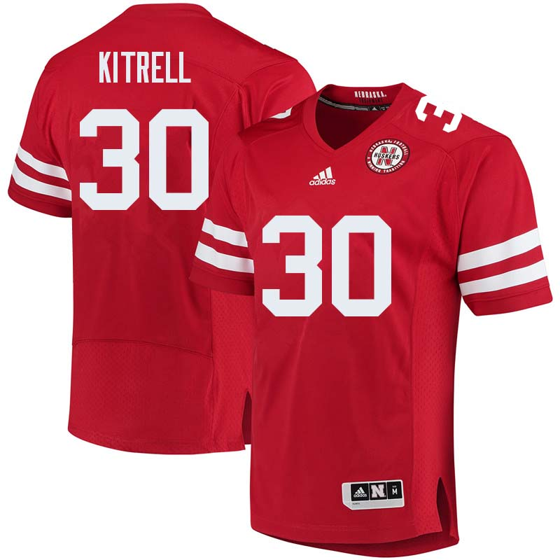 Men #30 Bo Kitrell Nebraska Cornhuskers College Football Jerseys Sale-Red