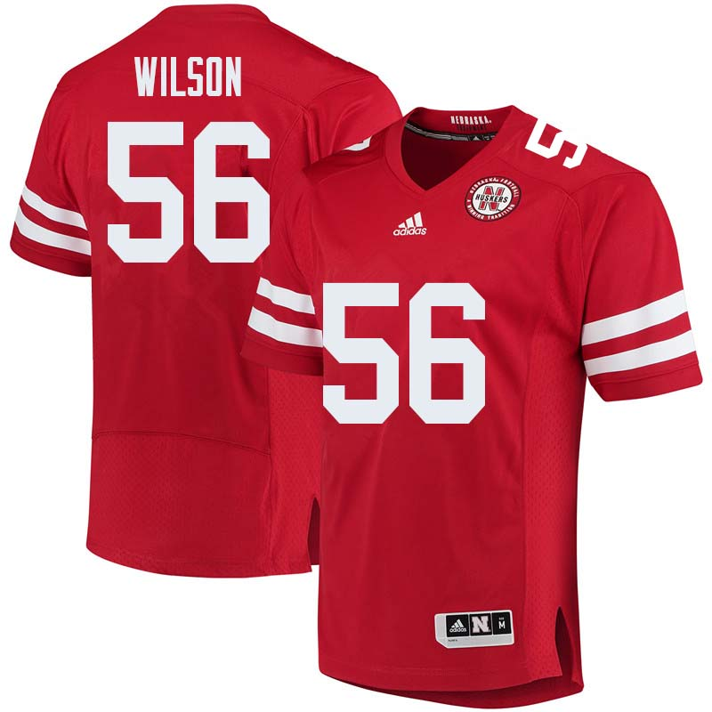 Men #56 Boe Wilson Nebraska Cornhuskers College Football Jerseys Sale-Red