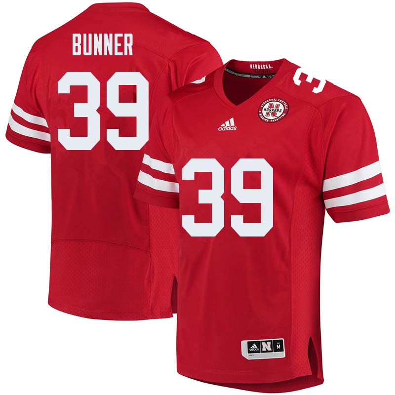 Men #39 Bradley Bunner Nebraska Cornhuskers College Football Jerseys Sale-Red