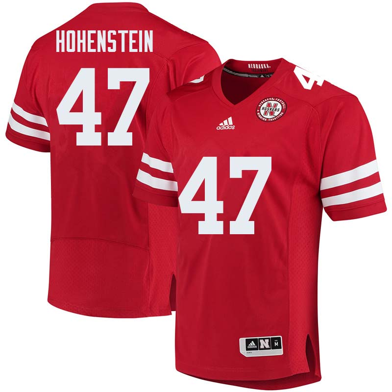 Men #47 Branden Hohenstein Nebraska Cornhuskers College Football Jerseys Sale-Red
