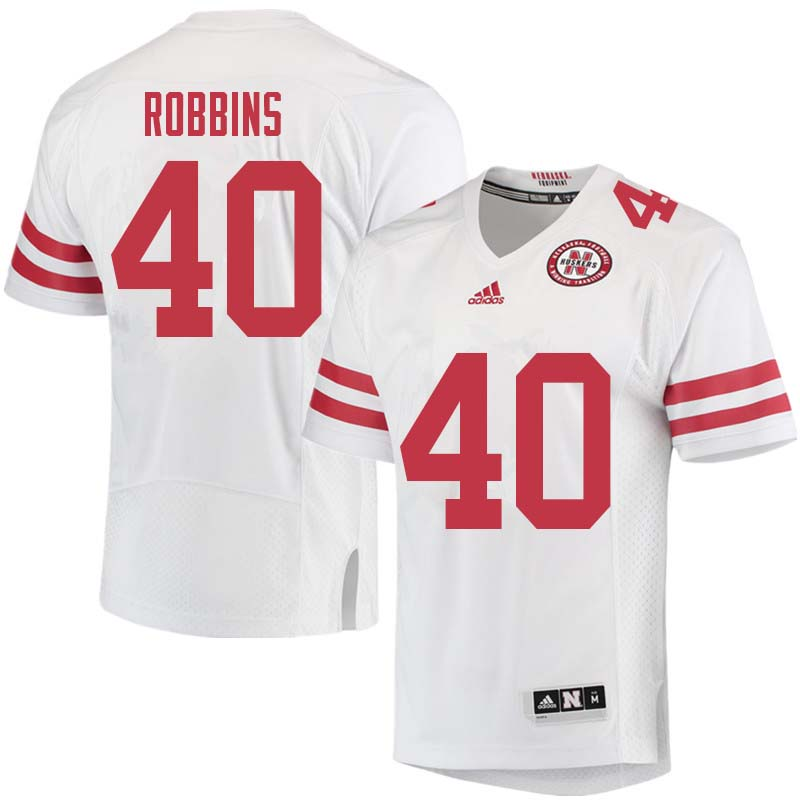 Men #40 Brandon Robbins Nebraska Cornhuskers College Football Jerseys Sale-White