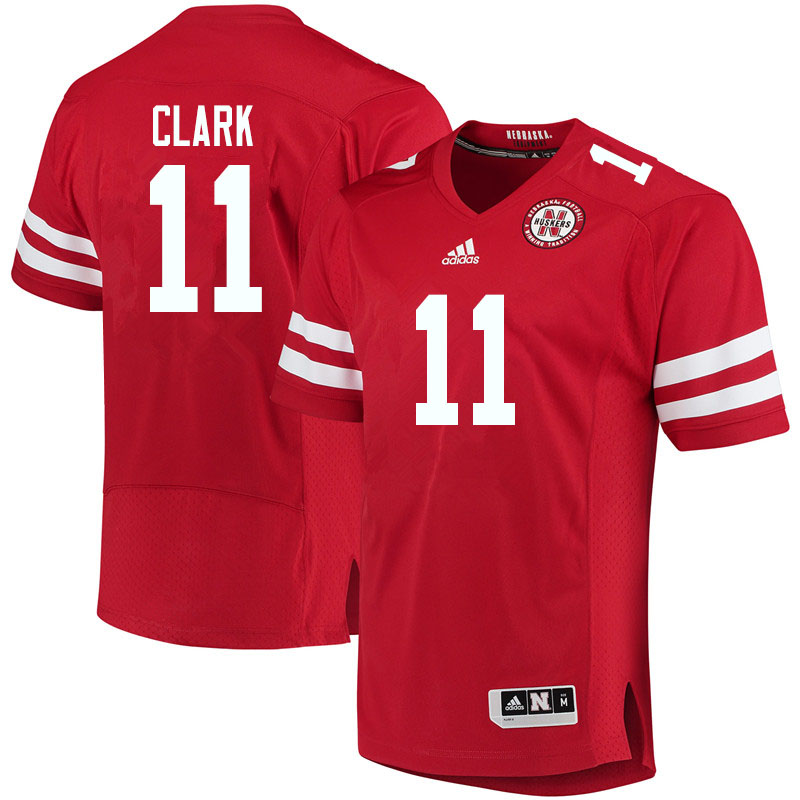 Men #11 Braxton Clark Nebraska Cornhuskers College Football Jerseys Sale-Red