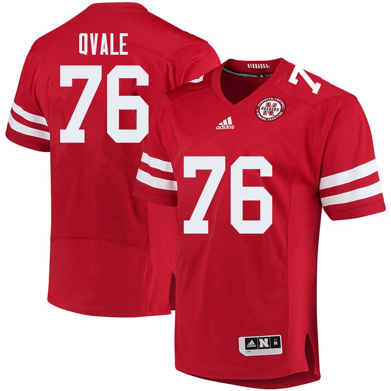 Men #76 Brent Qvale Nebraska Cornhuskers College Football Jerseys Sale-Red