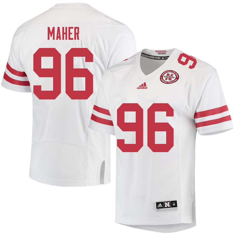 Men #96 Brett Maher Nebraska Cornhuskers College Football Jerseys Sale-White