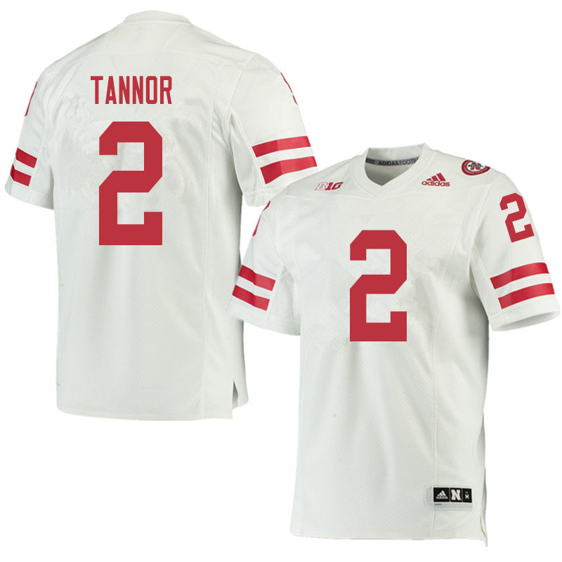 Men #2 Caleb Tannor Nebraska Cornhuskers College Football Jerseys Sale-White