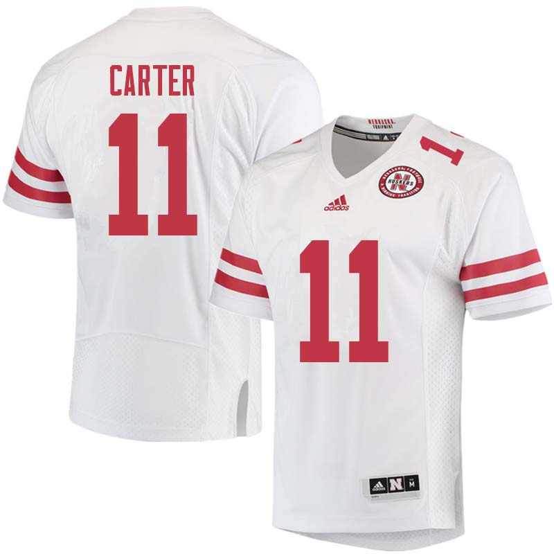 Men #11 Cethan Carter Nebraska Cornhuskers College Football Jerseys Sale-White