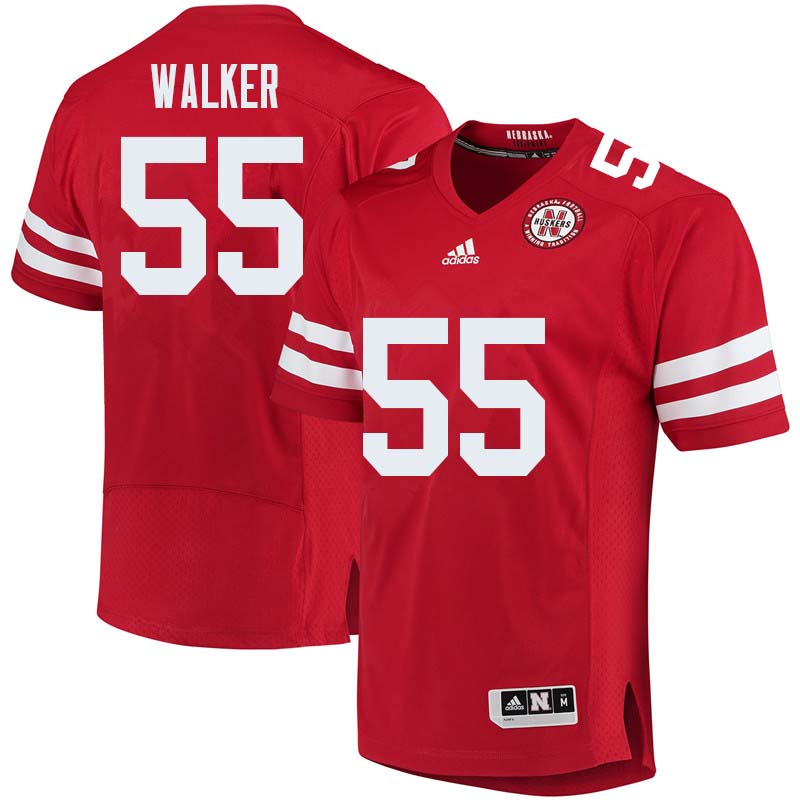 Men #55 Chris Walker Nebraska Cornhuskers College Football Jerseys Sale-Red