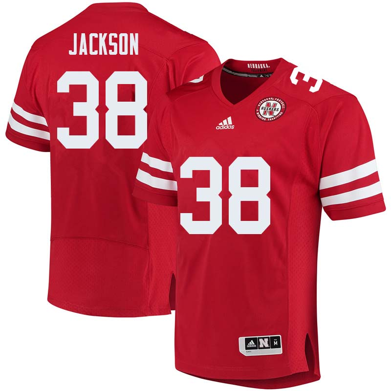 Men #38 Damian Jackson Nebraska Cornhuskers College Football Jerseys Sale-Red