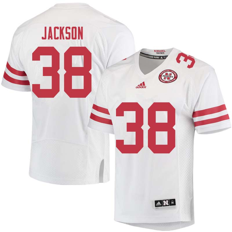 Men #38 Damian Jackson Nebraska Cornhuskers College Football Jerseys Sale-White