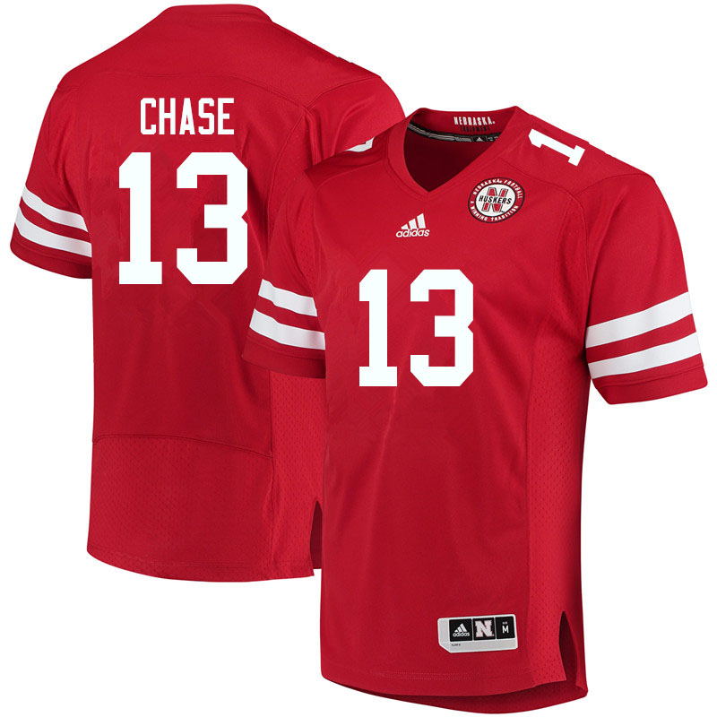 Men #13 Darien Chase Nebraska Cornhuskers College Football Jerseys Sale-Red