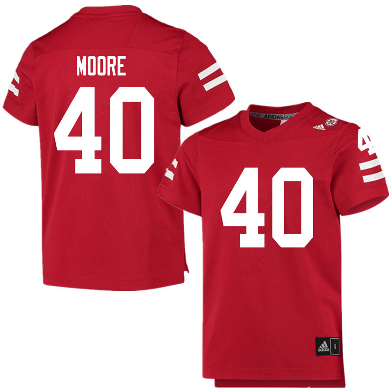 Men #40 Darius Moore Nebraska Cornhuskers College Football Jerseys Sale-Scarlet