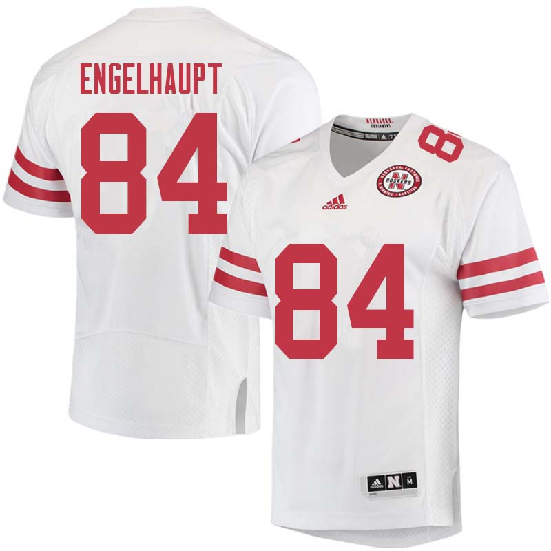 Men #84 David Engelhaupt Nebraska Cornhuskers College Football Jerseys Sale-White
