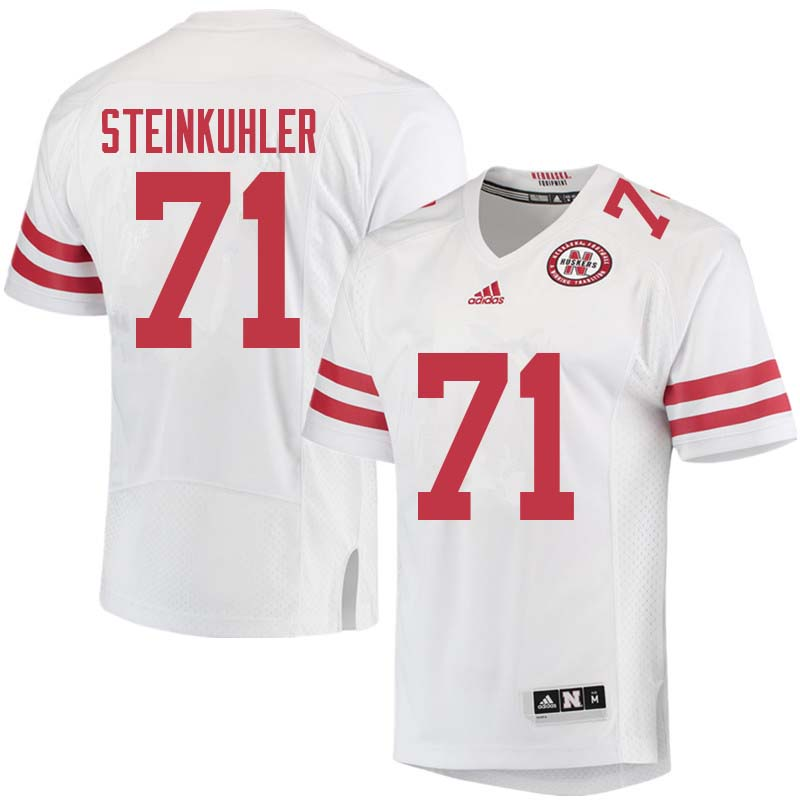 Men #71 Dean Steinkuhler Nebraska Cornhuskers College Football Jerseys Sale-White