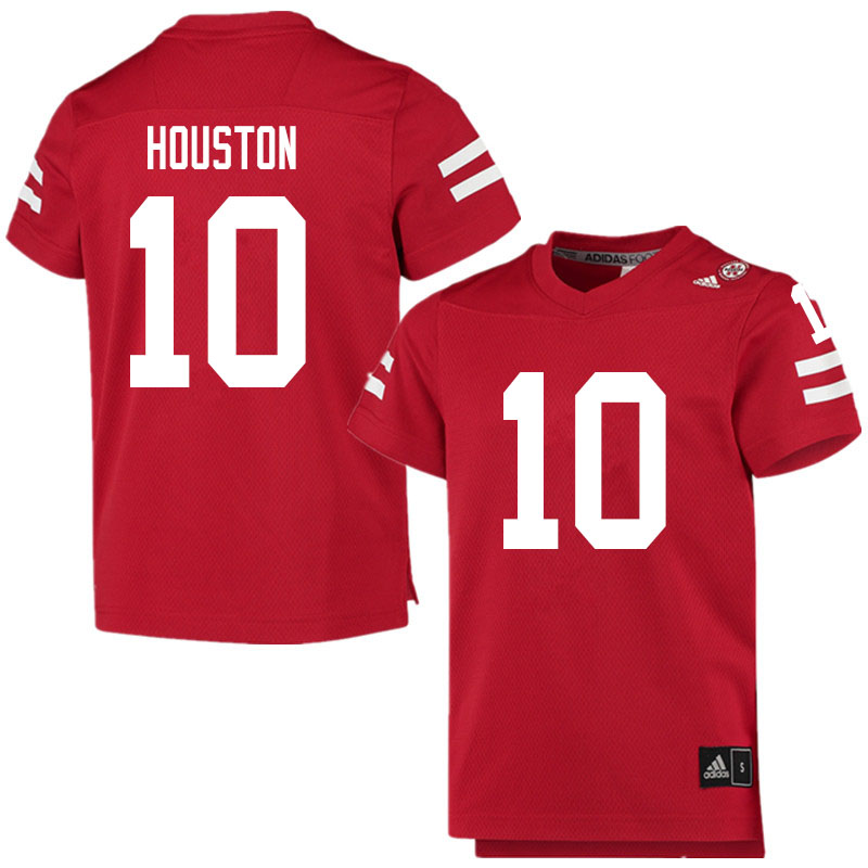Men #10 Demariyon Houston Nebraska Cornhuskers College Football Jerseys Sale-Scarlet