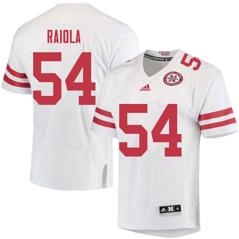 Men #54 Dominic Raiola Nebraska Cornhuskers College Football Jerseys Sale-White