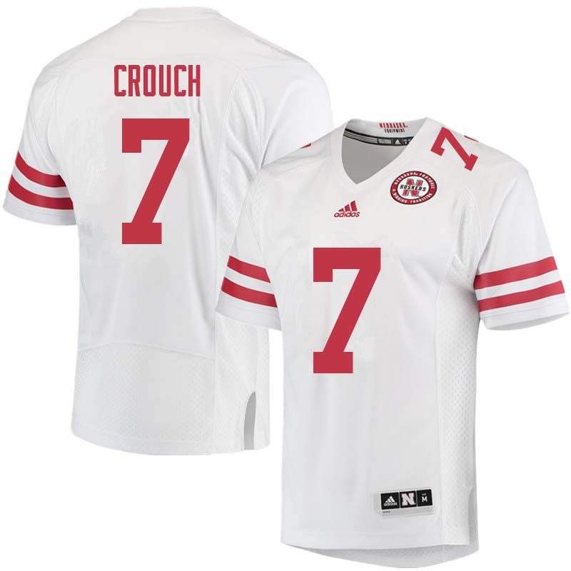 Men #7 Eric Crouch Nebraska Cornhuskers College Football Jerseys Sale-White