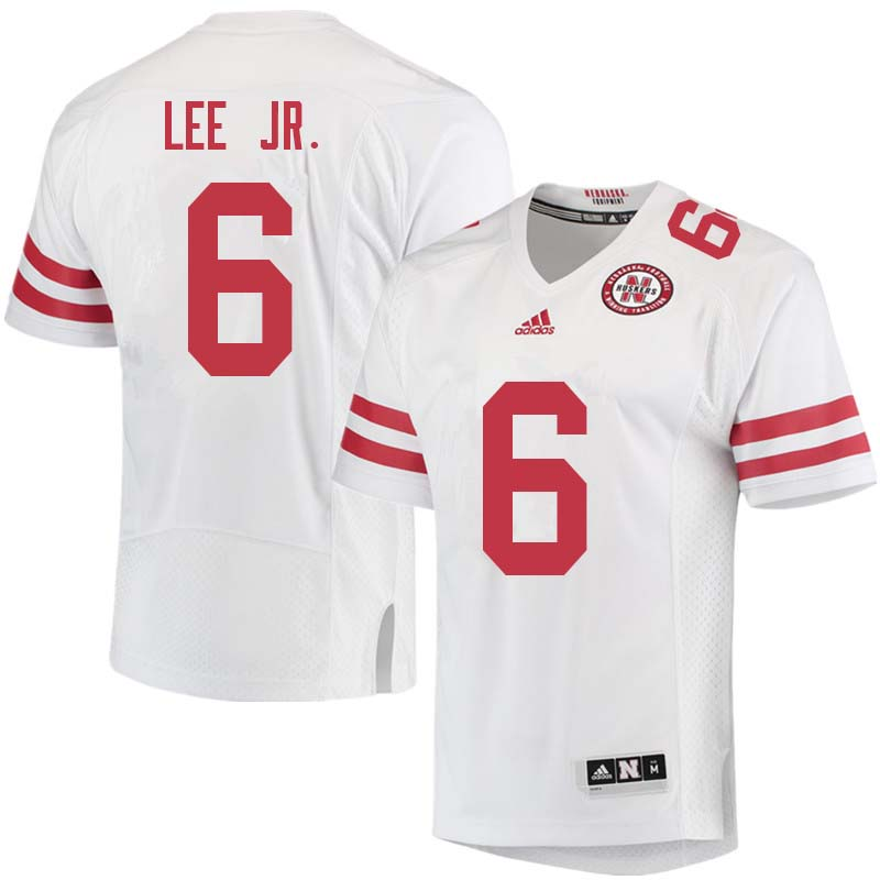 Men #6 Eric Lee Jr. Nebraska Cornhuskers College Football Jerseys Sale-White