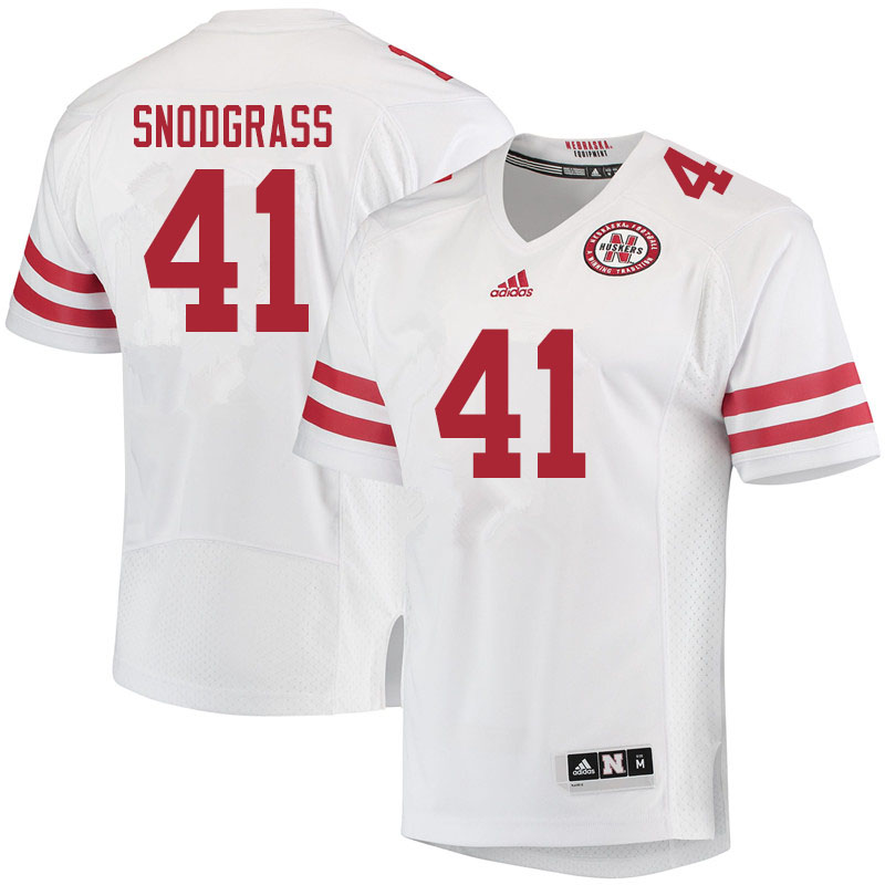 Men #41 Garrett Snodgrass Nebraska Cornhuskers College Football Jerseys Sale-White