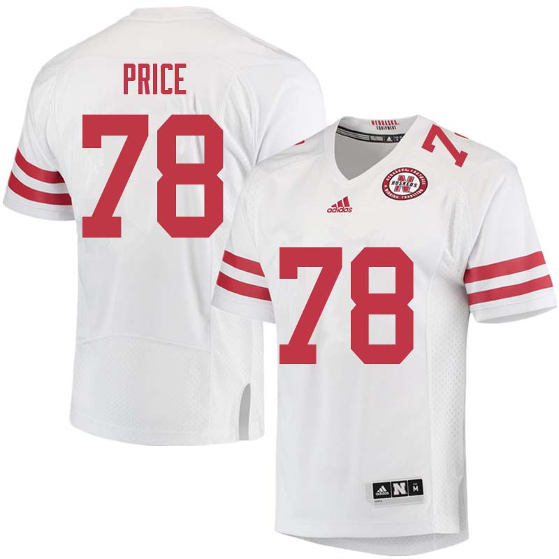 Men #78 Givens Price Nebraska Cornhuskers College Football Jerseys Sale-White
