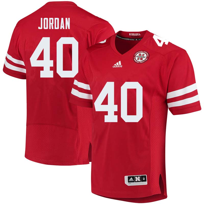 Men #40 Grant Jordan Nebraska Cornhuskers College Football Jerseys Sale-Red