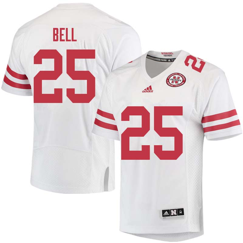 Men #25 Greg Bell Nebraska Cornhuskers College Football Jerseys Sale-White
