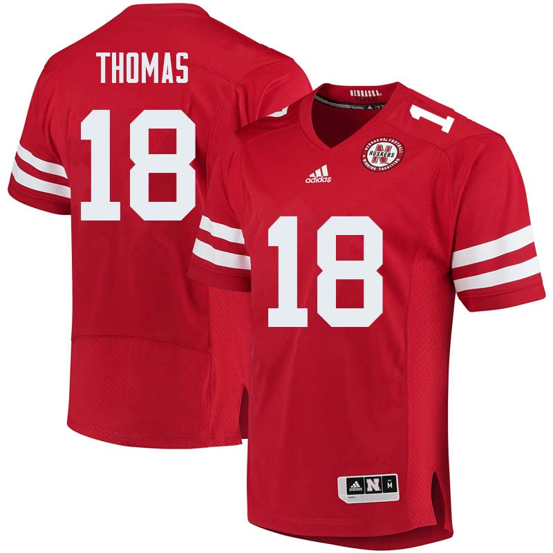 Men #18 Guy Thomas Nebraska Cornhuskers College Football Jerseys Sale-Red